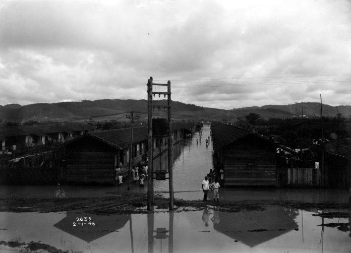 Enchente no Acampameto Central