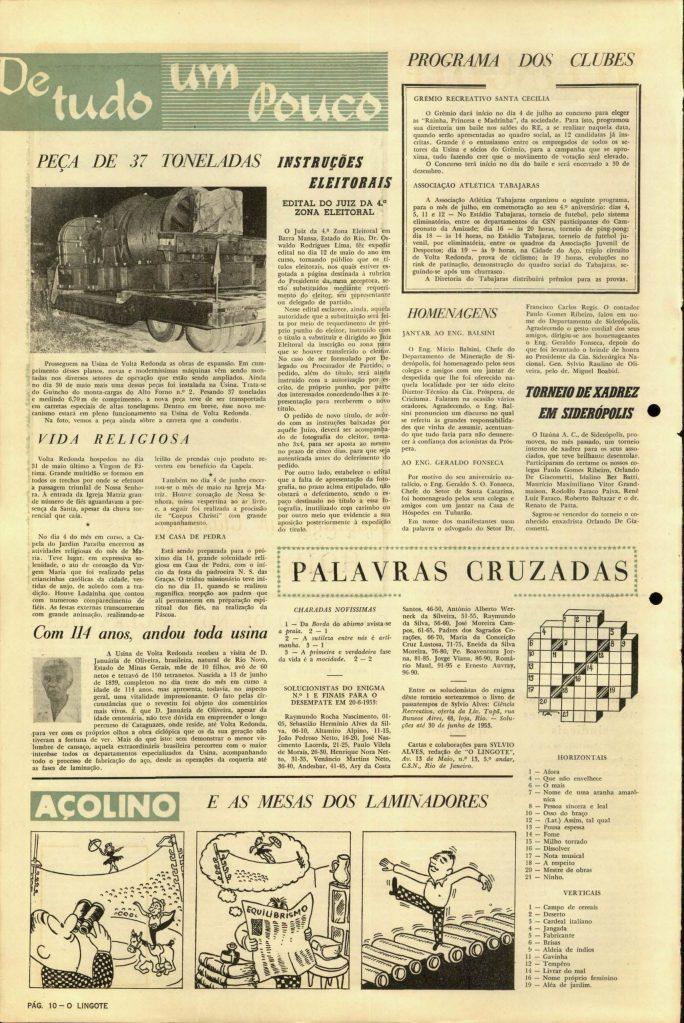 Volta Redonda -OLingote Edição 7 – 25 de Junho de 1953 - Página 10