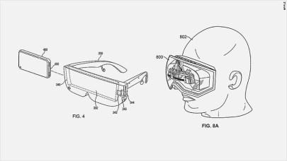 apple vr / ar patent diagram