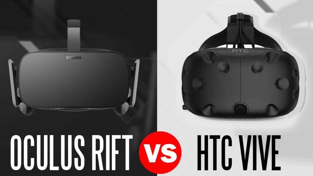 oculus rift headset vs htc vive headset