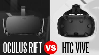 oculus rift headset vs htc vive headset