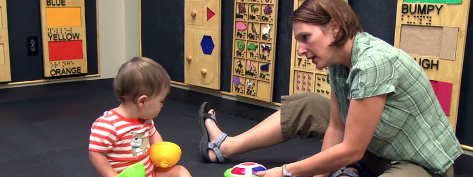 One-on-one support for child with vision impairment