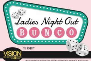 Ladies Night Bunco tournament sign