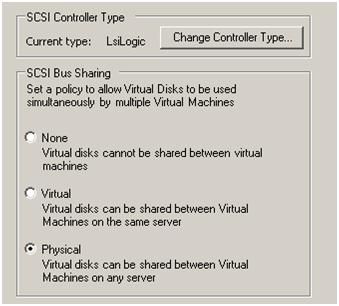 SCSI bus sharing