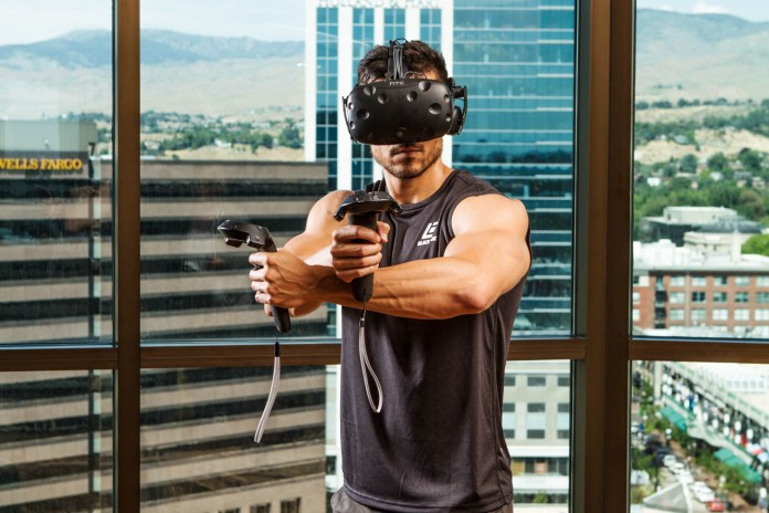 VR Fitness Insider - Vive controllers in urban apartment.