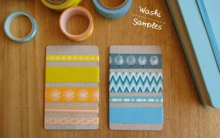 DIY washi tape samples