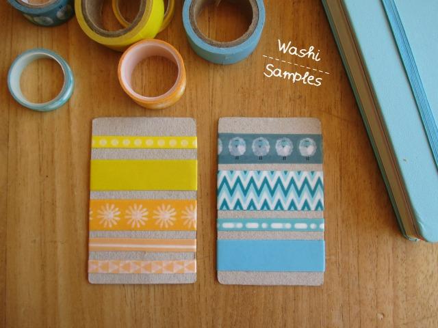DIY washi tape samples