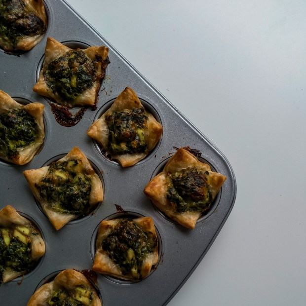 spinazie pesto hapjes, mini-quiches