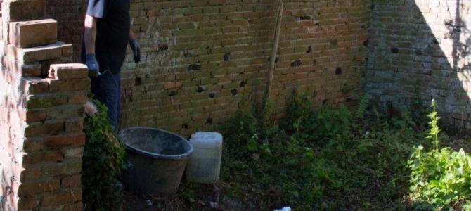 Herstel muurtjes en plaatsing watertappunt