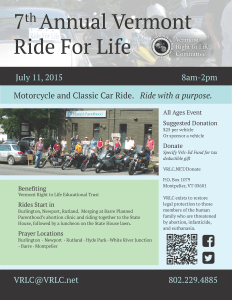 Ride for Life Flyer 2015