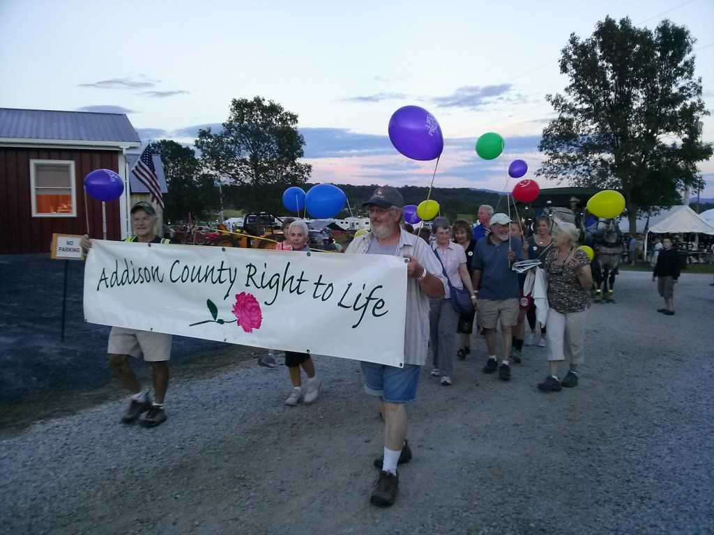 Addison County Right to Life Parading at the County Fair