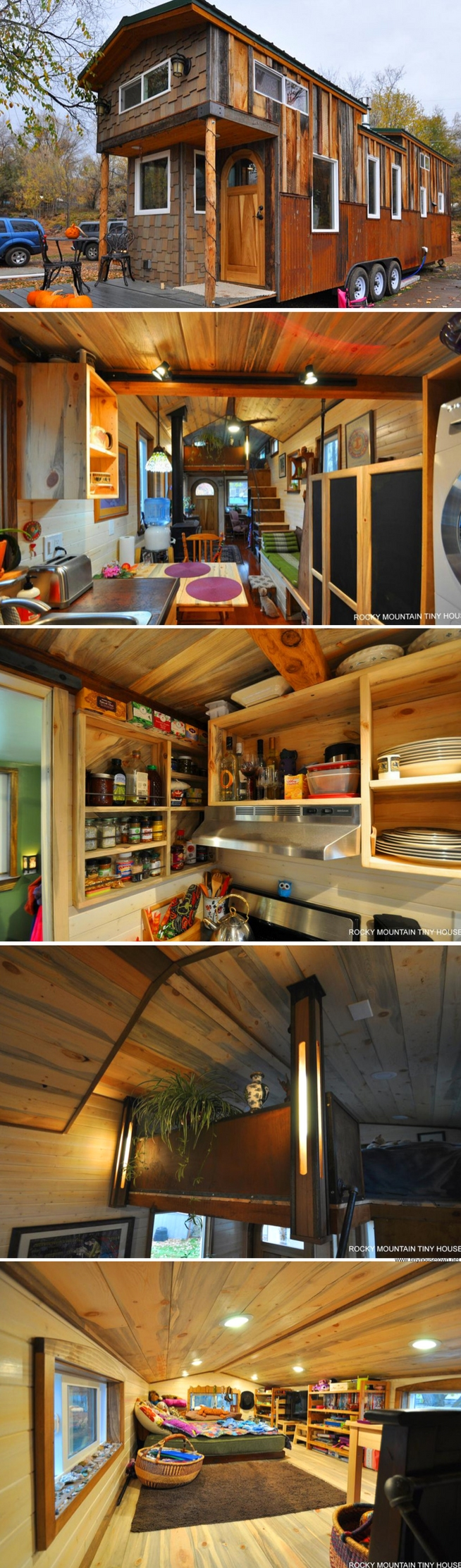 60 Small Mountain Cabin Plans with Loft Inspirational the Red Mountain Tiny House From Rocky Mountain Tiny Homes