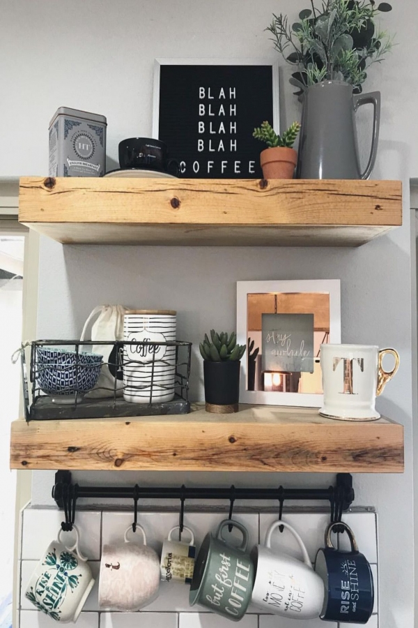 Wood Floating Shelf Small Sizes — H u r d & H o n e y