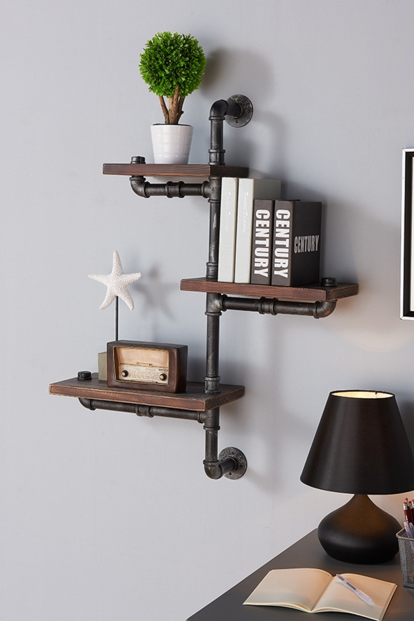 85 Sample Reclaimed Wood Floating Shelves Elegant Armen Living Lcorsh30 30 orton Industrial Pine Wood Floating Wall