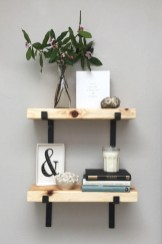 88 Wood Shelves with Metal Brackets New Iron Shelf Bracket with Lip In 2019 Home