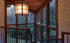 North carolina mountain home plans lovely rustic home in north carolina designed above a flowing creek