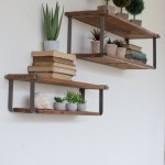 Reclaimed Wood Floating Shelves Best Of the Recycled Wood and Metal Shelves is A Simple but Spacious Wall