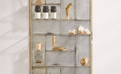 Reclaimed wood floating shelves luxury monique display case wall shelf in 2019