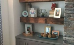 Reclaimed wood floating shelves luxury stupendous tricks floating shelves arrangement tv stands floating
