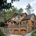 Rustic Mountain House Plans with Walkout Basement Beautiful Basement Garage Second Floor Entry Facing View and Third Floor