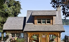 Rustic mountain house plans with walkout basement elegant a well designed pacific coast cottage with a lake view cabin