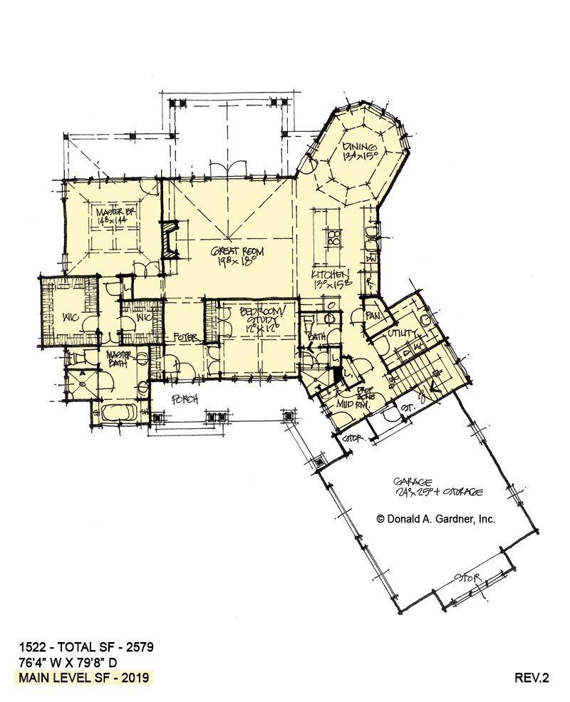 Rustic Mountain House Plans with Walkout Basement Elegant House Plan 1522 Rustic Two Story Living Room In 2019