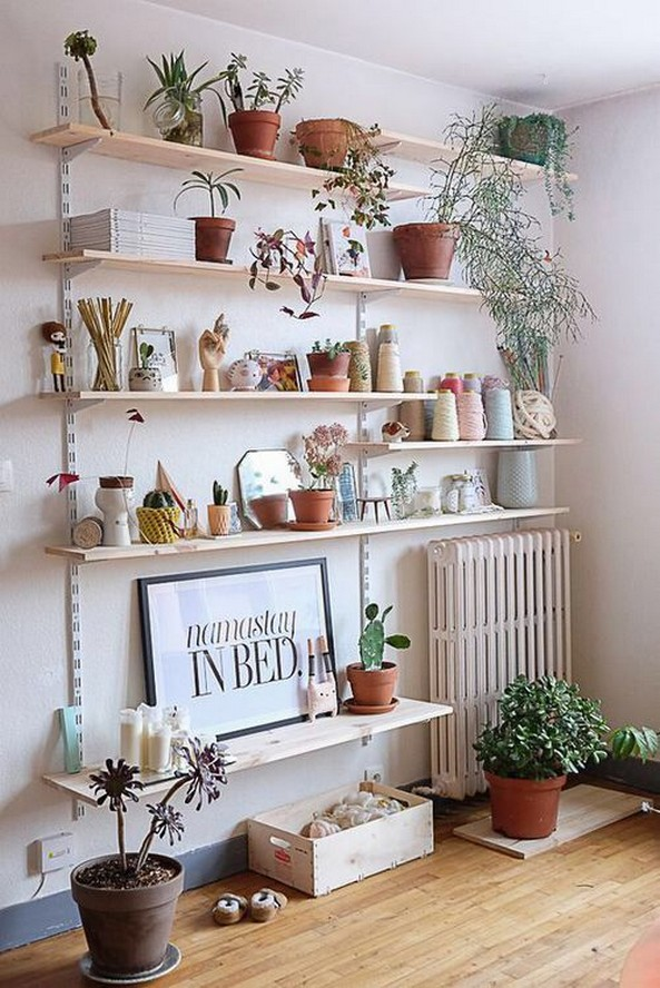✔️ 55 wall shelves design ideas show off your precious possessions with floating wall shelves 14