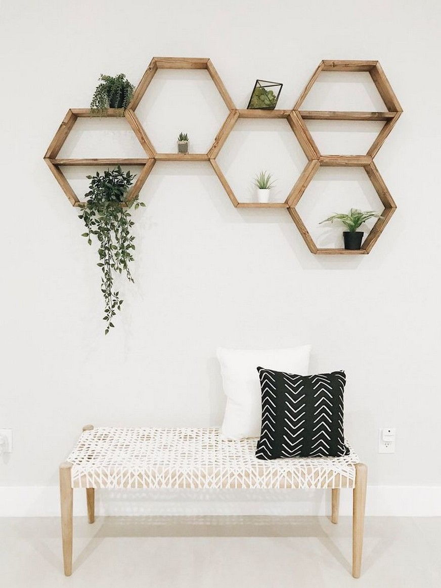 ✔️ 55 wall shelves design ideas show off your precious possessions with floating wall shelves 24