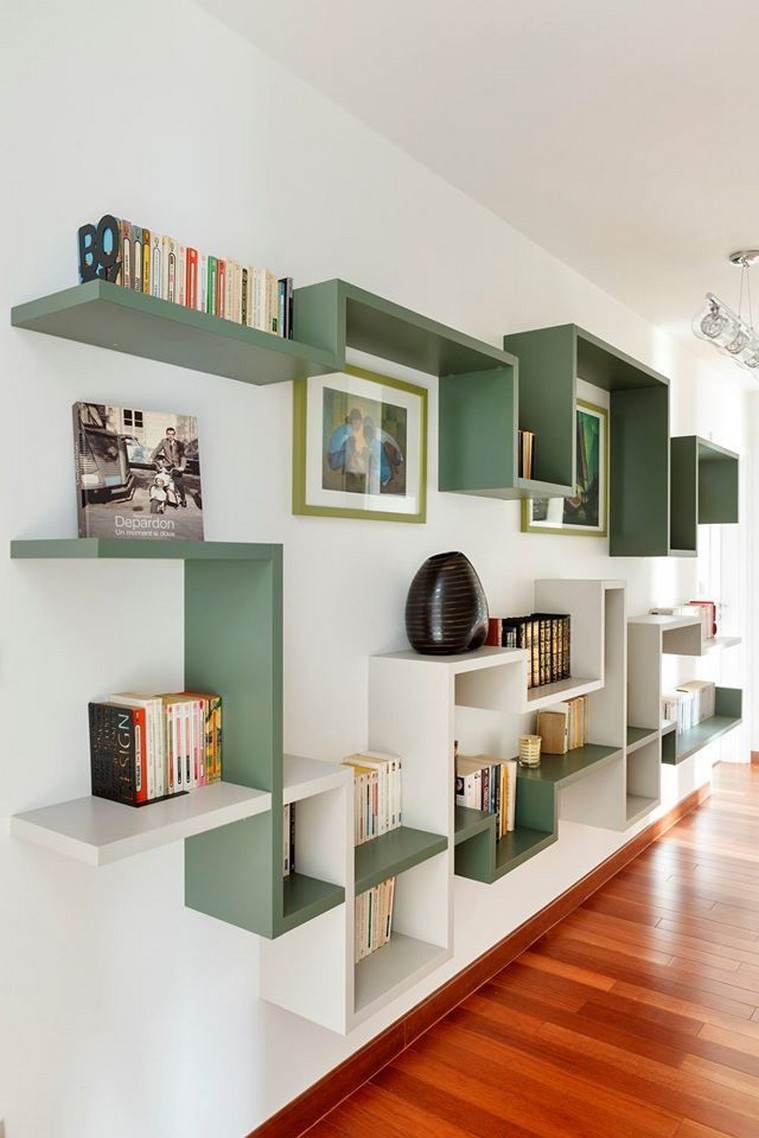 ✔️ 55 wall shelves design ideas show off your precious possessions with floating wall shelves 5