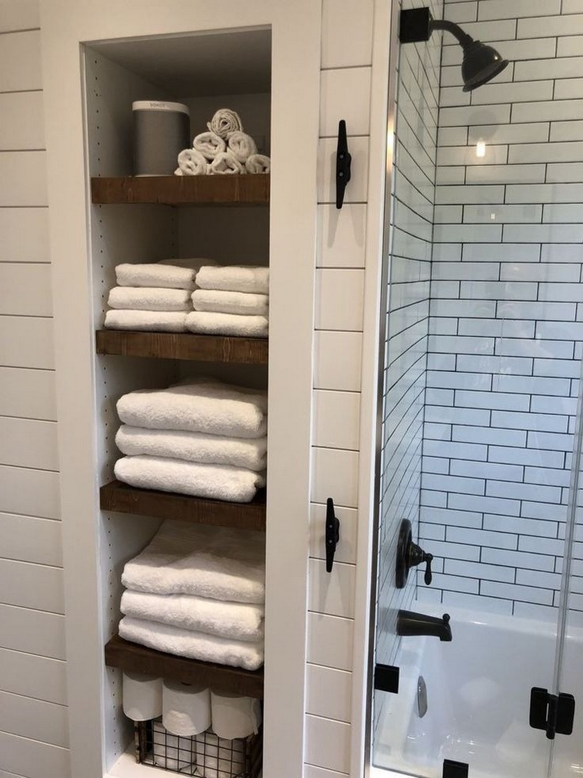 49 Small Bathroom Storage Decoation Ideas Here's How To Get All The Space You Need 36