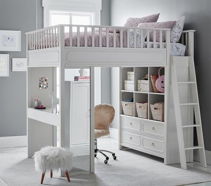 30+ Bunk Beds Design Ideas With Desk Areas Help To Make Compact Bedrooms Bigger 21