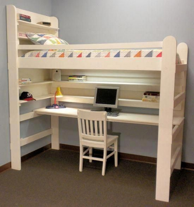 30+ Bunk Beds Design Ideas With Desk Areas Help To Make Compact Bedrooms Bigger 25