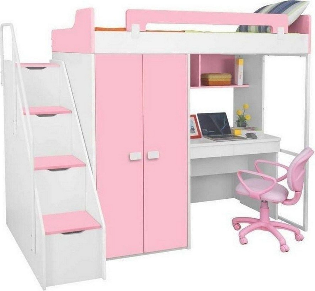 30+ Bunk Beds Design Ideas With Desk Areas Help To Make Compact Bedrooms Bigger 30