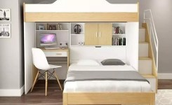 30+ Bunk Beds Design Ideas With Desk Areas Help To Make Compact Bedrooms Bigger 7