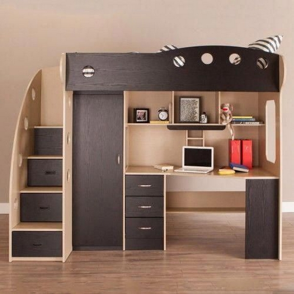34 Bunk Bed Design Ideas With The Most Enthusiastic Desk In Interest 29