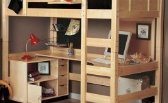 34 Bunk Bed Design Ideas With The Most Enthusiastic Desk In Interest 34
