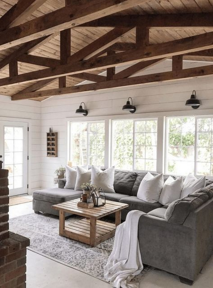 90 Most Popular Farmhouse Style Interior Design 15