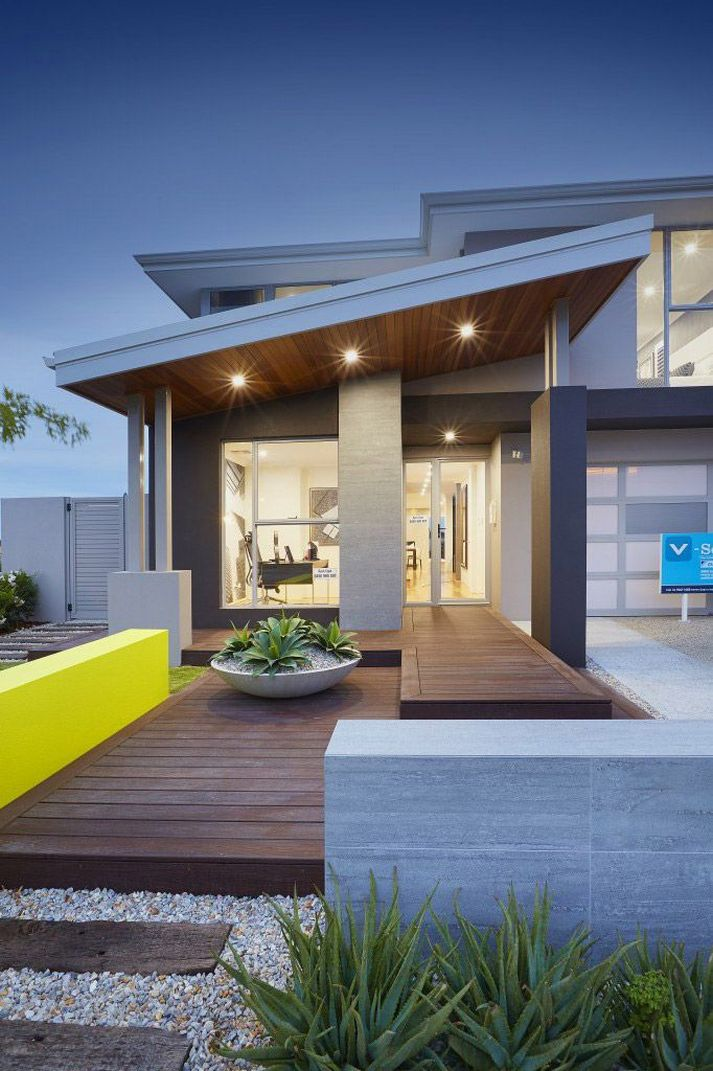 70+ Most Popular Modern Flat Roof House Design 15