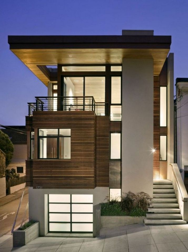 70+ Most Popular Modern Flat Roof House Design 2