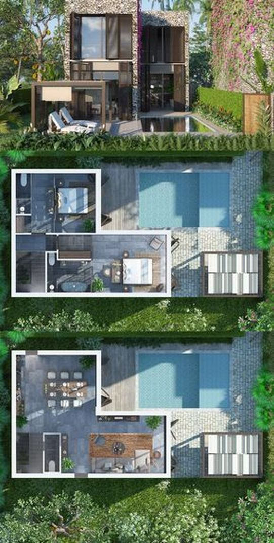 70+ Most Popular Modern Flat Roof House Design 40