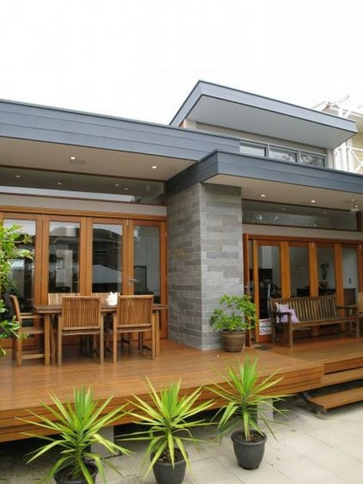 70+ Most Popular Modern Flat Roof House Design 9