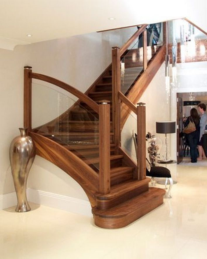 95 Cool Modern Staircase Designs For Homes (30)