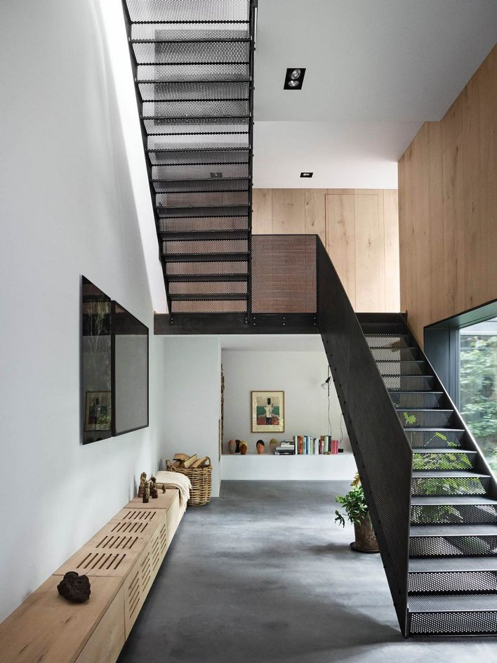 95 Cool Modern Staircase Designs For Homes (36)