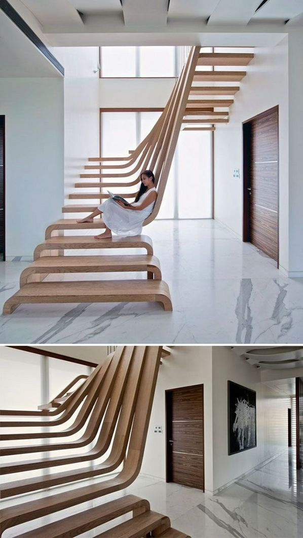 95 Cool Modern Staircase Designs For Homes (4)