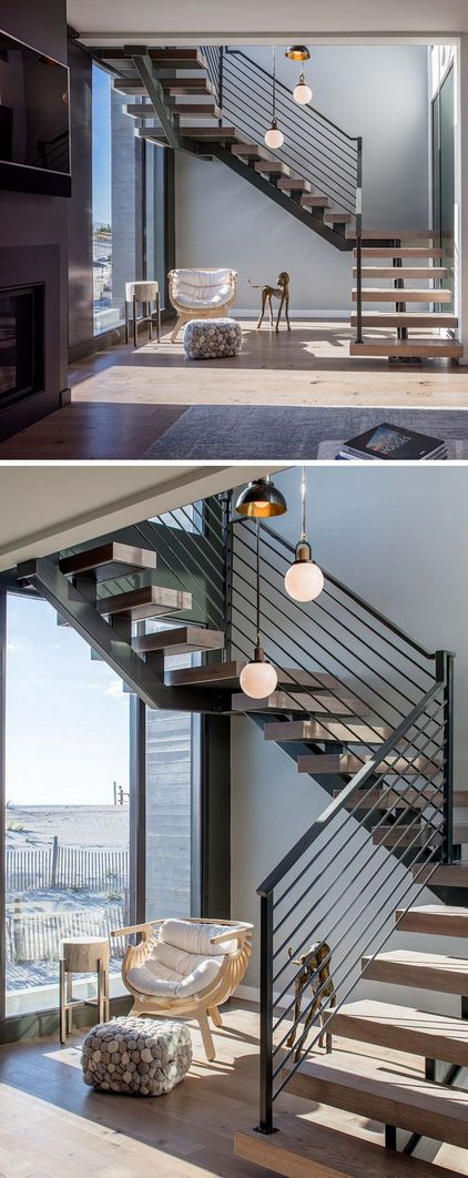 95 Cool Modern Staircase Designs For Homes (40)