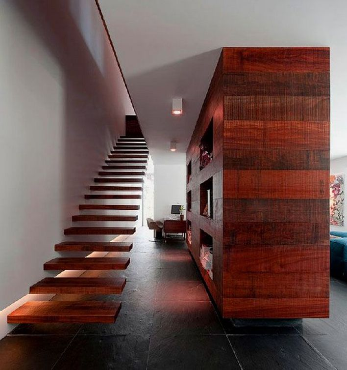 95 Cool Modern Staircase Designs For Homes (47)