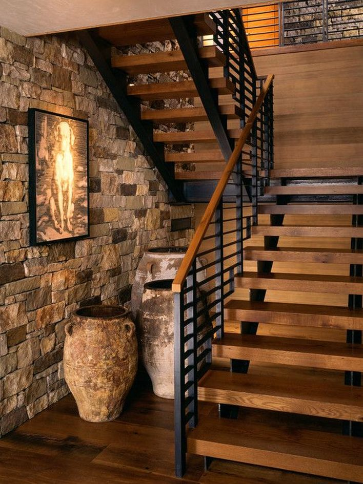95 Cool Modern Staircase Designs For Homes (6)
