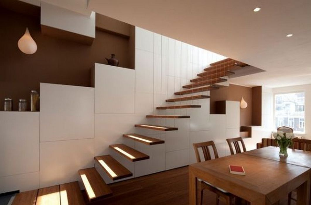 95 Cool Modern Staircase Designs For Homes (62)