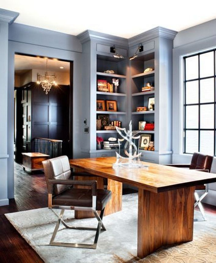 96 Modern Home Office Design Looks Elegant 14