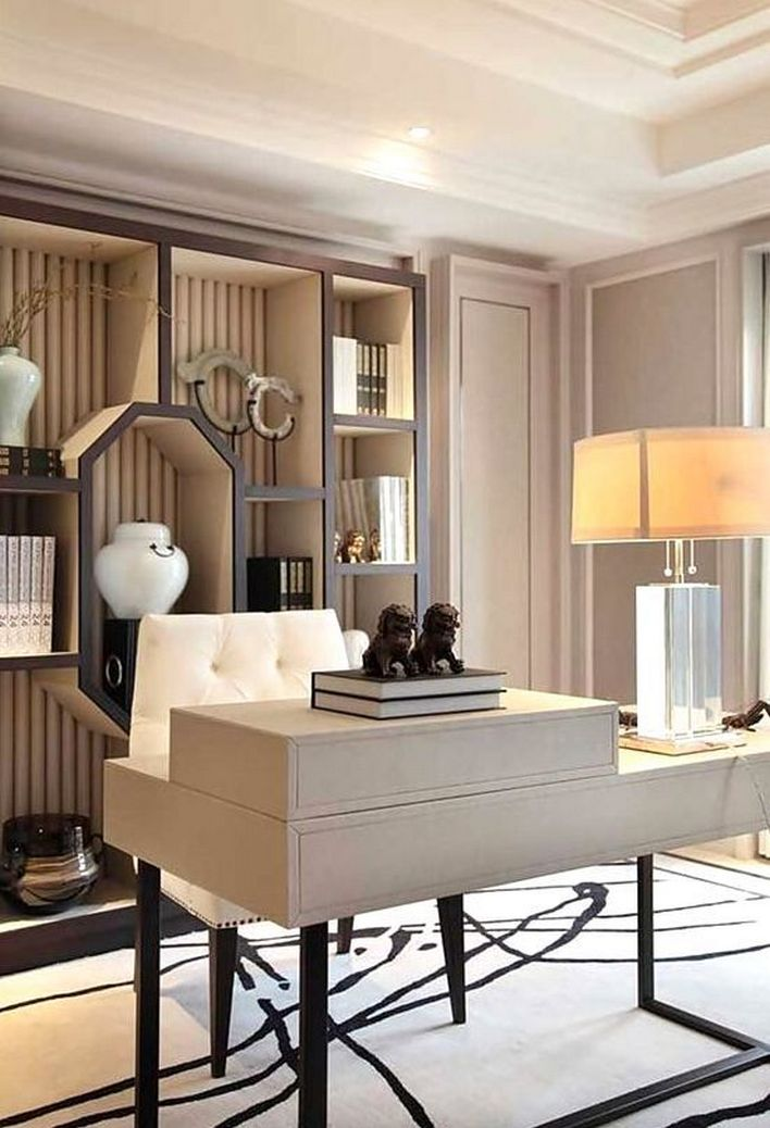 96 Modern Home Office Design Looks Elegant 3